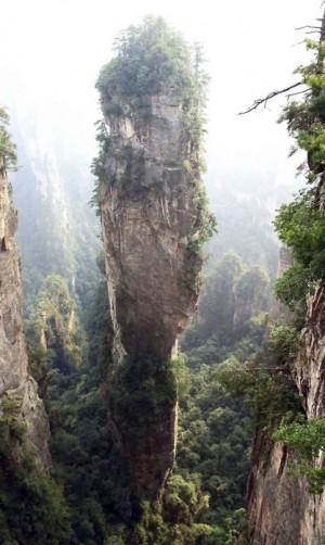 Scorcio del Parco forestale nazionale di Zhangjiajie, in Cina